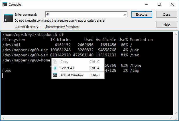 Console Window :: WinSCP