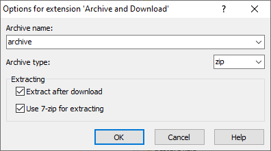 Archive remote files to ZIP archive, download it, and