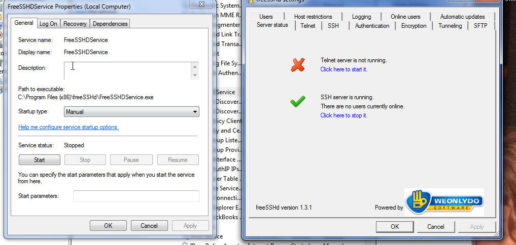 WinSCP Permission denied error code 3 with FreeSSHd server