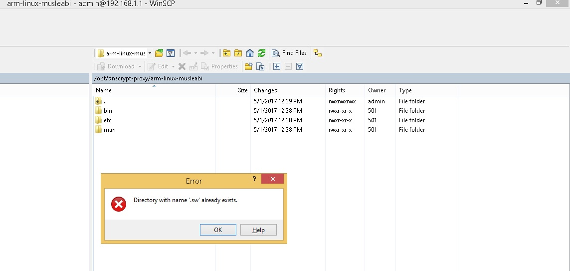WinSCP not displaying directory :: Support Forum :: WinSCP