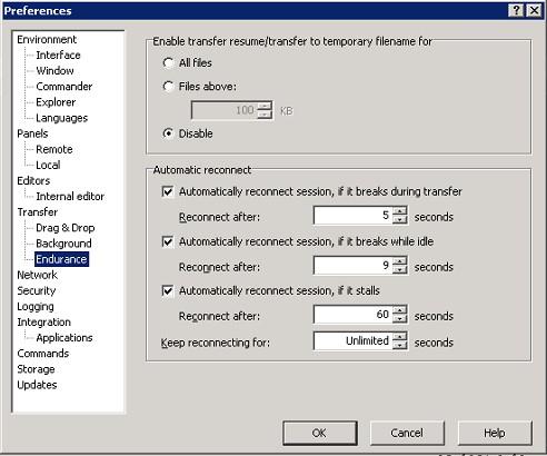 Setting transferOptions TransferResumeSupport in VB Script