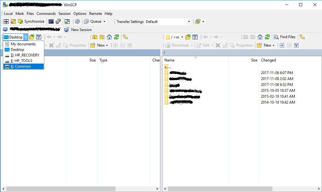 Unable to map local drive :: Support Forum :: WinSCP