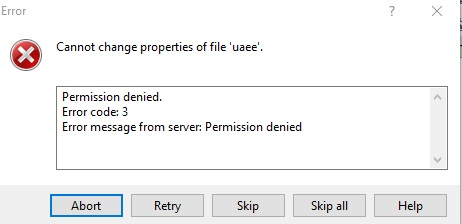 I tried to edit a file in hosting server with winscp