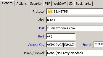 Amazon S3 Region :: Support Forum :: WinSCP