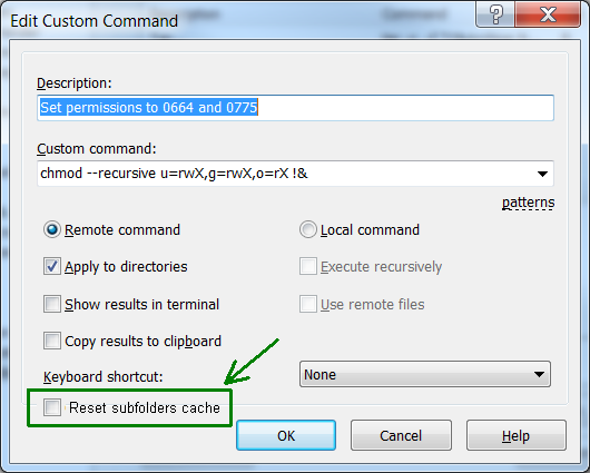 Remote panel does not automatically refresh directory after