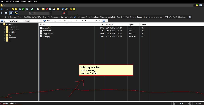 Can't Open Queue List :: Support Forum :: WinSCP
