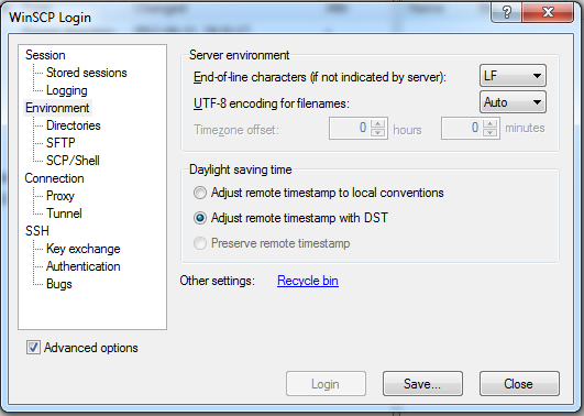 Problem with Daylight saving time :: Support Forum :: WinSCP