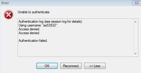 access denied error in winscp 4 0 3 :: Support Forum :: WinSCP